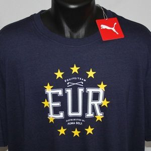 NEW Puma Team Ryder Cup European Edition Crew Tee